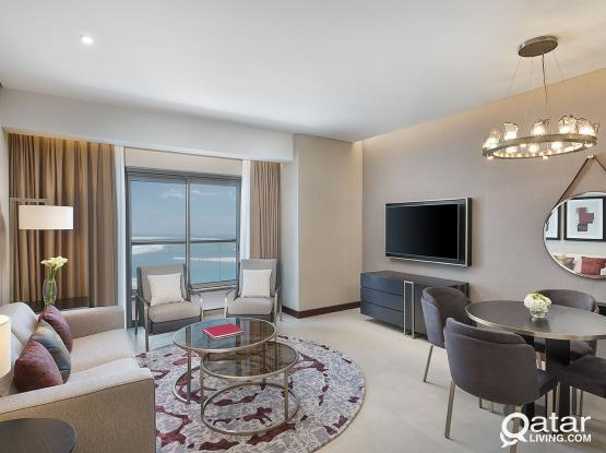 Hilton The Pearl, 1 Bedroom Deluxe Apartment