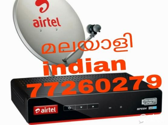 Al kind of satellite dish installation.Airtel dish hd receiver lnbf remote adaptor Cable's offer sale very Low price Pls call 77260279