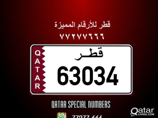 63034 Special Registered Number