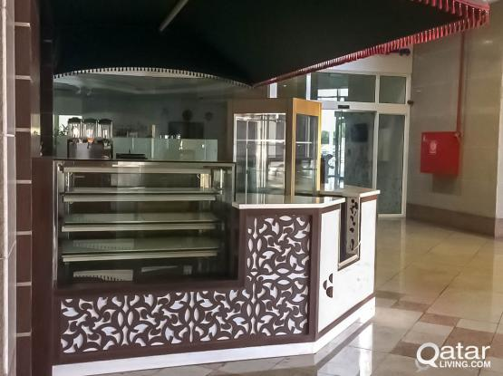 FULLY EQUIPPED OPEN COFFEE SHOP FOR RENT AL SADD