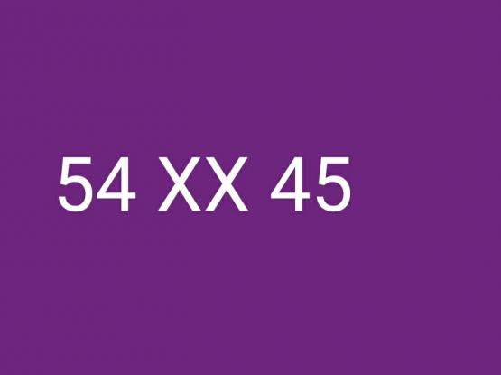 54 xx 45
