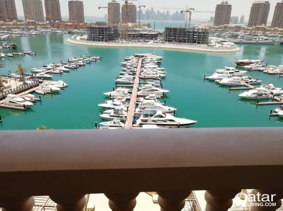 HOt Deal 3B/R+maid 100 % Full marina in The pearl