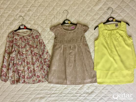 Girls Clothing (Zara, M&S, George, etc) from only 25QR! (size range 4-8 years) Mostly New