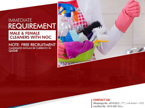 FREE recruitment for cleaners.