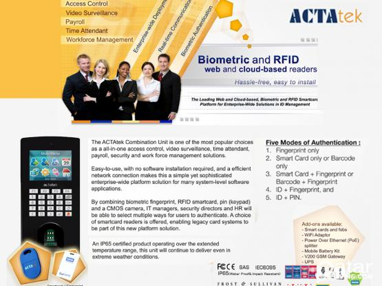 Bio-Metric Time Attendance & Access Control System