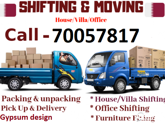 Moving and Shifting and Gypsum Design. Please call 70057817