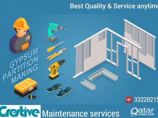 Gypsum Partition & Wallpaper # Maintenance (Painting /Plumbing / Electrical)