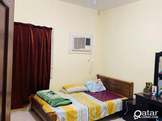 One bhk available near alkhor club (old stadium) ground floor fully furnished