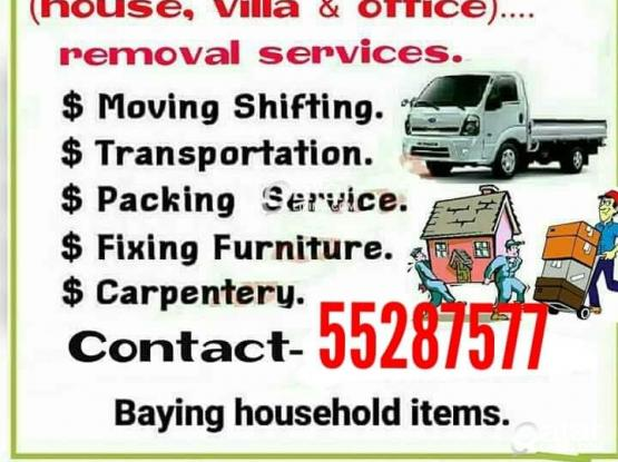 We do less price.....moving shifting carpenter transport services. Please call me 55287577