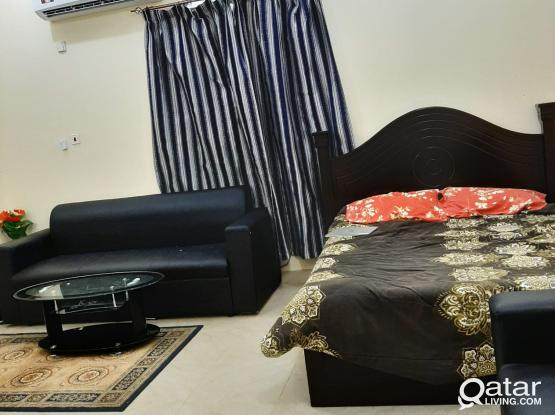 One bhk available in alkhor near corniche with two bath room fully furnished