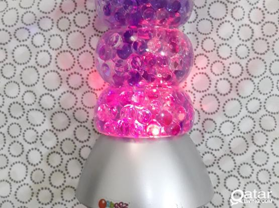 Beautiful lamp with orbees