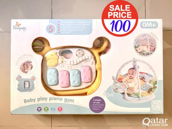 baby gym piano - new