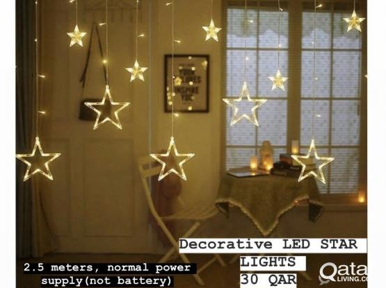 Decorative star type LED light - Not battery operated