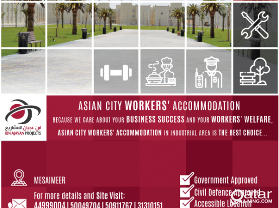 Asian City Workers' Accommodation FOR RENT