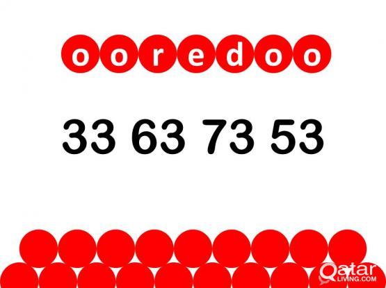 Ooredoo special number 33 63 73 53