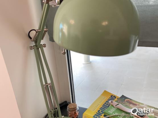 ikea table study lamp green!