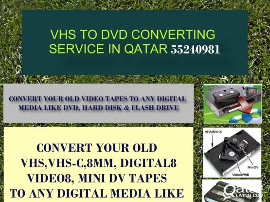 VHS TO DVD CONVERTING IN QATAR