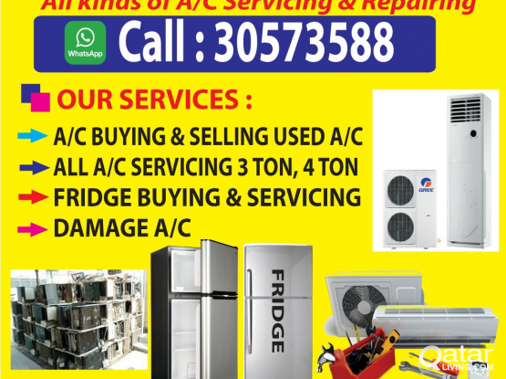 Split & window AC sailing,servicing, repairing , Maintenance. Any location low price 24 hours call and WhatsApp =30573588
