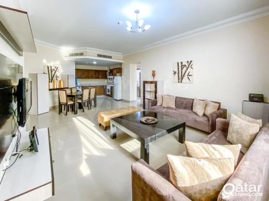 Elegant 2 Bedroom Fully Equipped Serviced Apartment