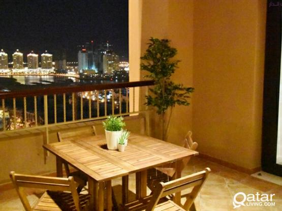 Luxury apartment marina view Porta Arabia water electricity and internet included