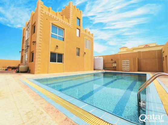 Exicutive bachelor's Spacious 5BHK Unfurnished Villa for rent at Al Waab. Just a 5-minute drive from Villagio Mall.