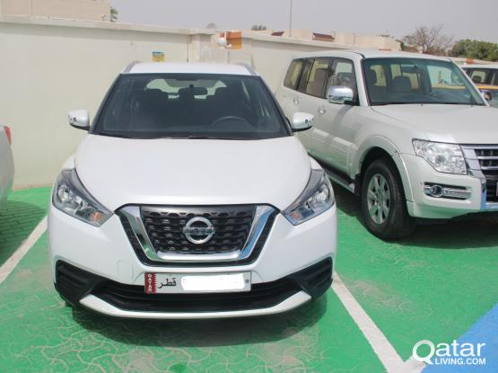 Nissan Kicks Daily Rate 160 QR Monthly Rate 2400 QR