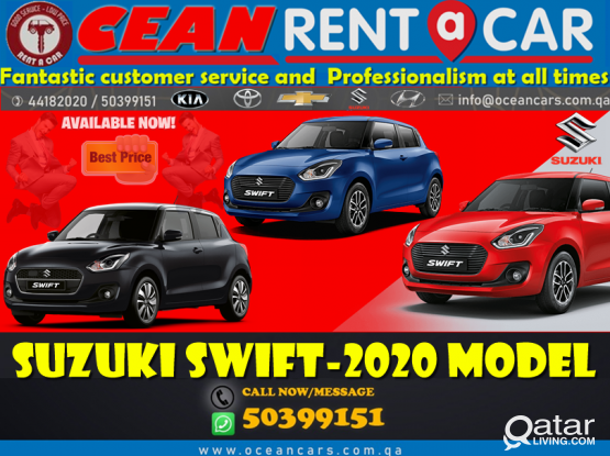 SUZUKI SWIFT-2020 MODEL AVAILABLE FOR RENT :-CALL US NOW.44182020/50399151