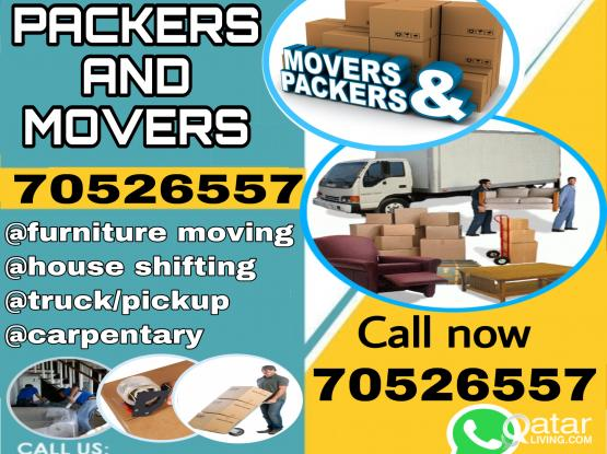 MOVERS AND PACKERS SERVICE.CALL 70526557
