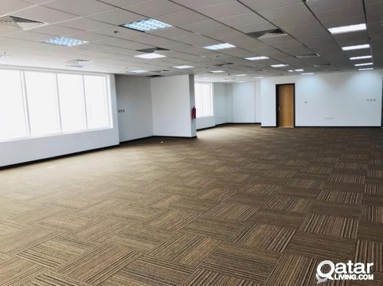 Exclusive!! 4 months free 300 Sqm to 600 Sqm at Qr 45/Sqm for Offices