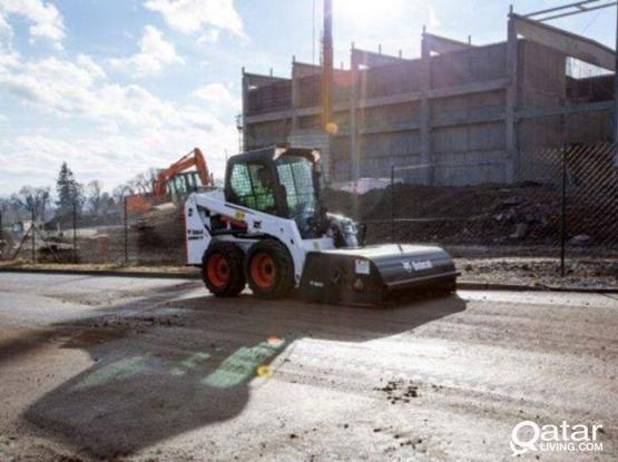 Bobcat with Sweeper for Rent
