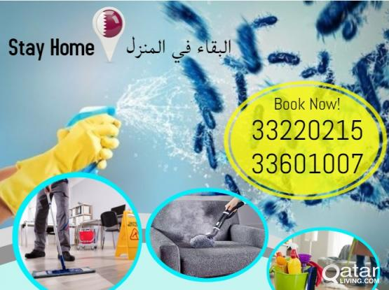Cleaning Services / Disinfection  Steam cleaning / Sanitizing / sofa cleaning / Carpet Cleaning