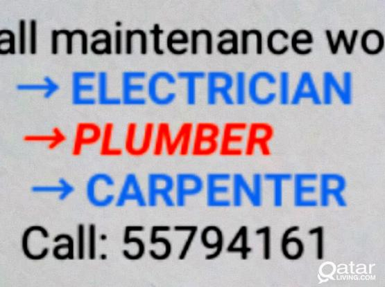 Electric, plumbing and carpenter work 55794161 dish satellite tv painting,   electrician, plumber, carpentery all maintenance work