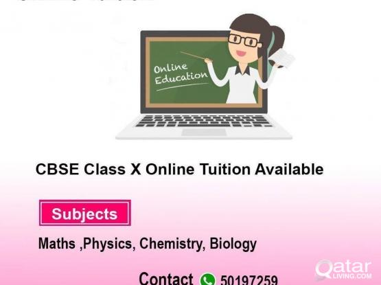 Online CBSC Tuition For Class X Available