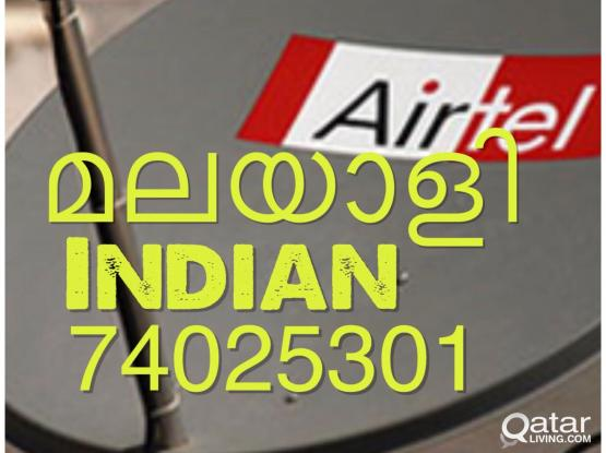 very low price Call 74025301 Airtel new hd reciever airtel big dish for sale and installation call