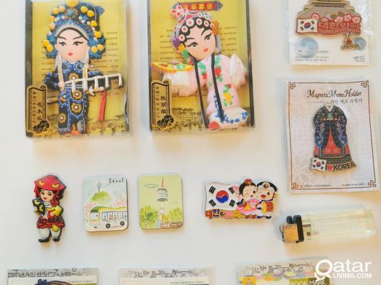 Souvenirs, magnets, ornaments