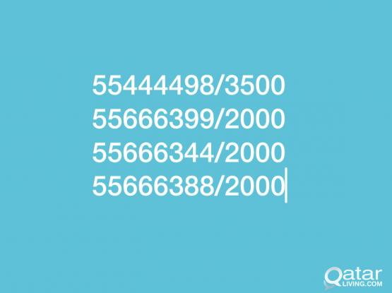 Fancy oredoo Prepaid  Number