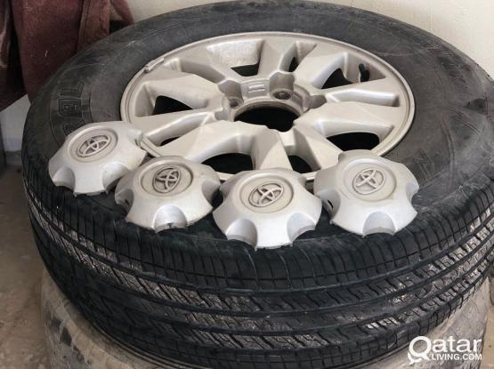 "Land Cruiser 17"" Aloe Wheels With Tire"