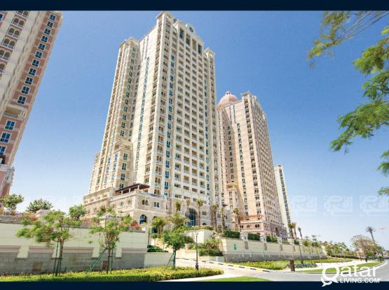 Semi Furnished 1-Bedroom Apartment in The Pearl + 2 months free