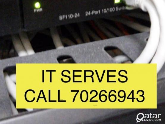 IT SERVICE /NETWORKING /PABX/TELEPHONEY CALL 70266943 CCTV PA SYSTEM