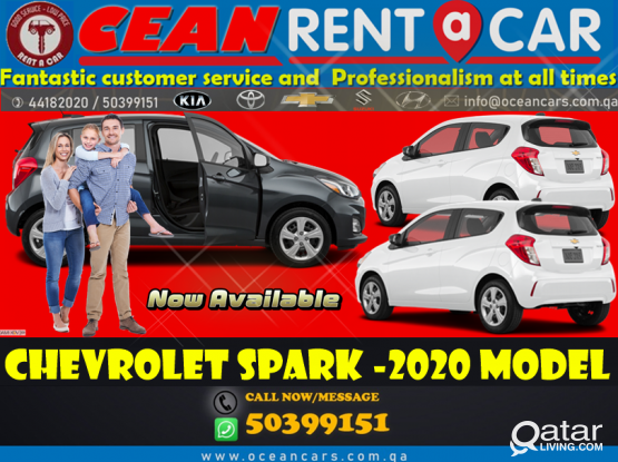 Cheap Price!! New Model !! Chevrolet Spark -2020 model Available For rent !! Contact Us :- 44182020/50399151
