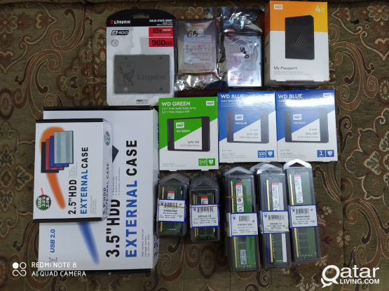 we have all computer accessories Wd blue ssd-500GB-Wd blue ssd-1TB-Wd