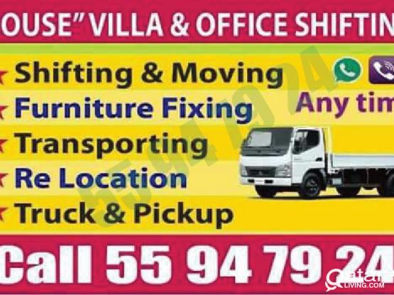 Low price =55947924 - moving,shifting,packing,carpenter. transportation,truck & pickup,painting & partition call 55 94 79 24