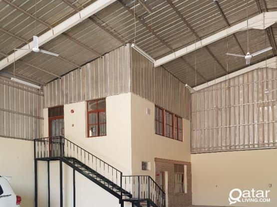 warehouse with 28 rooms for rent in industrial area