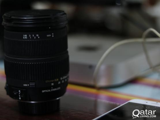 Sigma Zoom Lens 18-200mm f/3.5-6.3 DC OS Lens For Nikon - Made in JAPAN