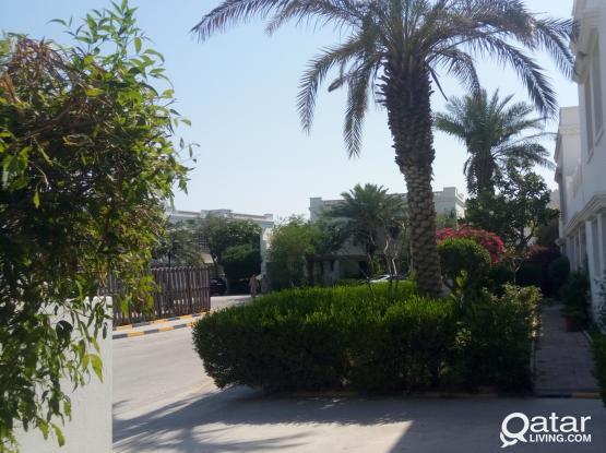 Luxury compound with green gardens villa with long balcony in prime location one month free