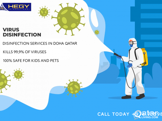 Disinfection Service Against COVID 19- Pest Control Service - Cleaning Service -  Call Today +974 77598405