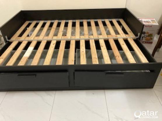 IKEA DAY BED BLACK COLOUR