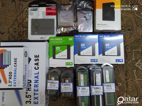 All computer accessories and all dekstop leptop av