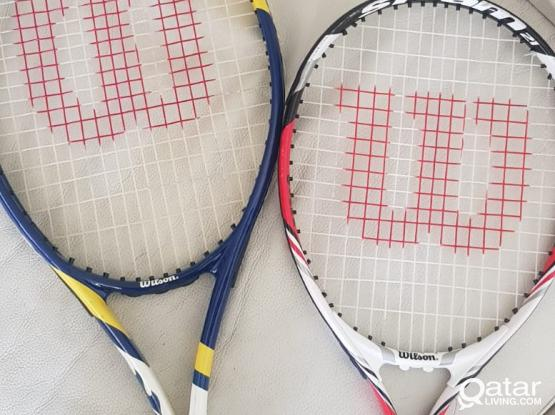 Wilson,dunlop,head etc tennis rackets for sale