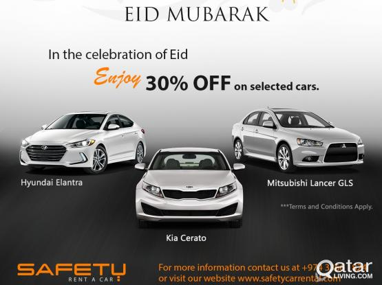 Get 30% off in celebration of Eid al-Fitr from Safety Rent a Car